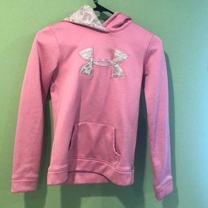 Child's pink under armor sweatshirt